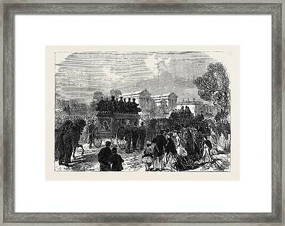 Funeral Of Sergeant Brett The Police Officer Killed Framed Print by English School