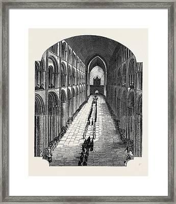 Funeral Of The Bishop Of Ely Framed Print by English School