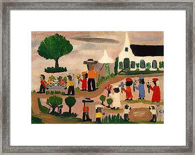 Funeral Procession Framed Print