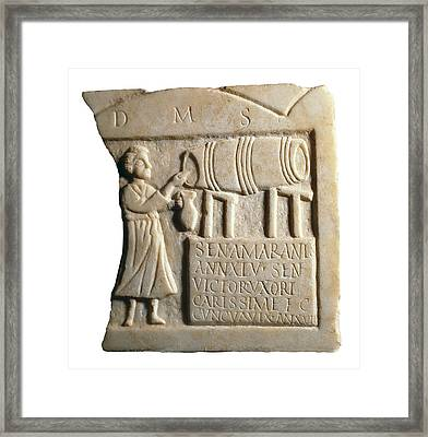 Funerary Stele Of The Landlady Sentia Framed Print