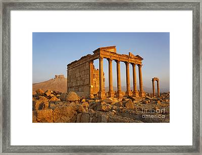 Funerary Temple At Palmyra Framed Print by Robert Preston