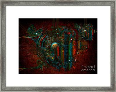 Framed Print featuring the digital art Funfair by Alexa Szlavics