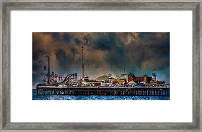 Funfair On The Pier Framed Print by Chris Lord