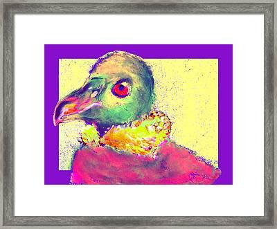 Funky Andrean Condor Bird Art Prints Framed Print by Sue Jacobi
