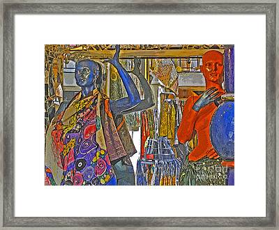 Framed Print featuring the photograph Funky Boutique by Ann Horn