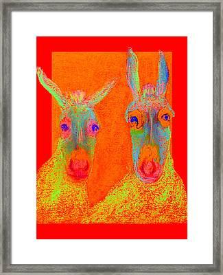 Funky Donkeys Art Prints Framed Print