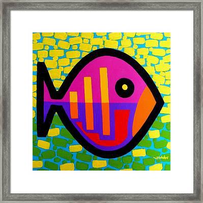 Funky Fish V Framed Print by John  Nolan