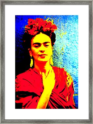 Framed Print featuring the mixed media Funky Frida IIi by Michelle Dallocchio