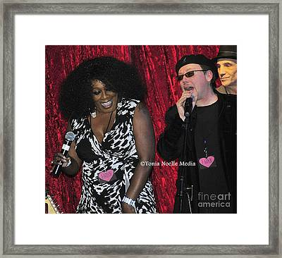 Funky Fun With Ladya White And Lloyd Jones Framed Print