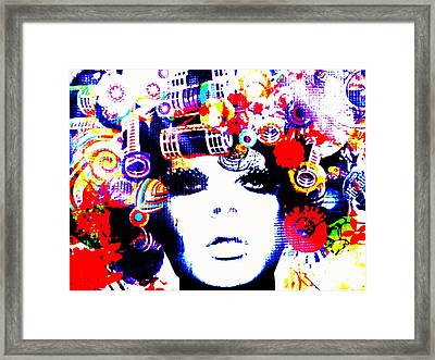 Funky Hair In Bali Framed Print by Funkpix Photo Hunter