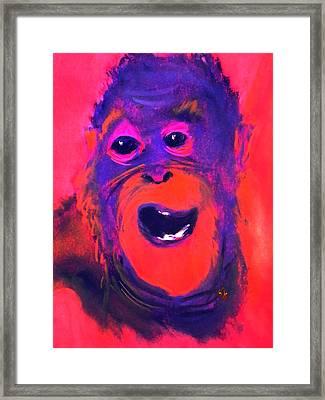 Funky Monkey Happy Chappy Framed Print