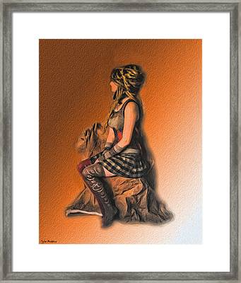 Funky Punky Framed Print by Tyler Robbins