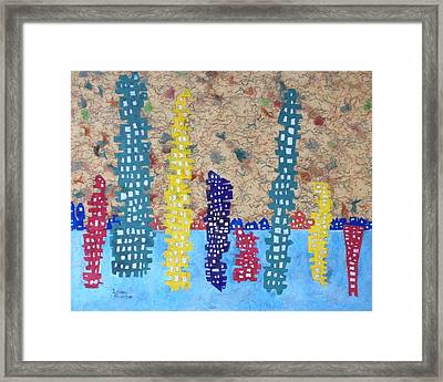 Funky Town 7 Framed Print by Isaac Alcantar