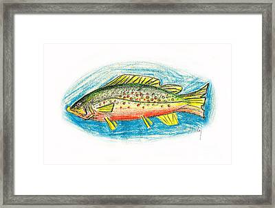 Funky Trout Framed Print