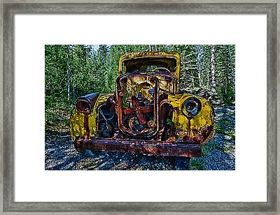 Funky Truck Framed Print by Craig Brown