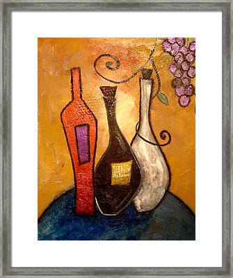 funky Vino 10 Framed Print by Gino Savarino