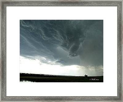 Funnel Cloud Framed Print