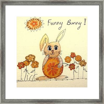 Funny Bunny Framed Print