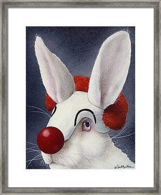 Funny Bunny... Framed Print by Will Bullas