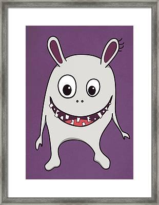 Funny Crazy Happy Monster Framed Print