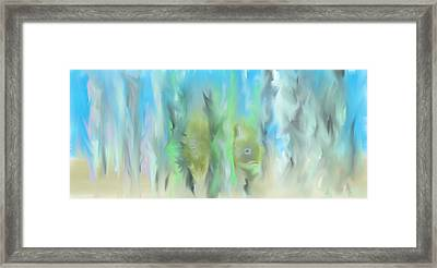 Framed Print featuring the painting Funny Fish by Jessica Wright