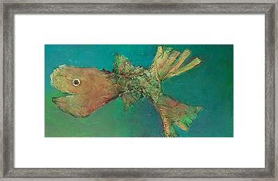 Funny Fish Framed Print