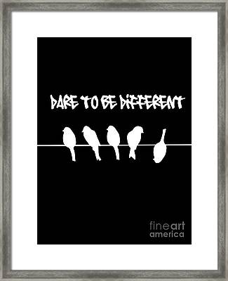 Funny Upside Down Bird Framed Print by Li Or