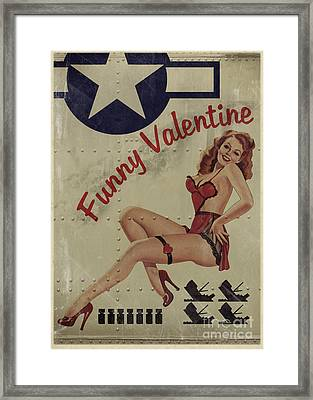 Funny Valentine Noseart Framed Print by Cinema Photography