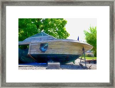 Funplex Funpark Boat 5 Framed Print by Lanjee Chee