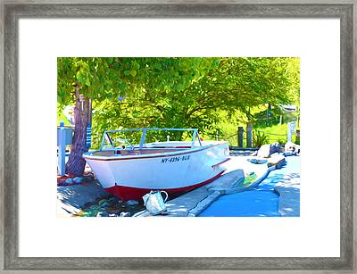 Funplex Funpark Boat 6 Framed Print by Lanjee Chee
