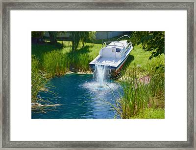 Funplex Funpark Boat 7 Framed Print by Lanjee Chee