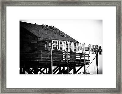 Funtown Pier Framed Print by John Rizzuto