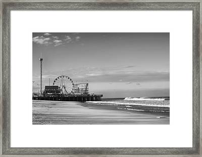 Funtown Pier Seaside Heights New Jersey  Framed Print