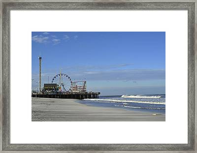 Funtown Pier Seaside Heights Nj Jersey Shore Framed Print by Terry DeLuco
