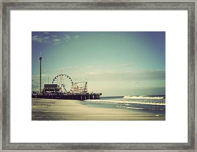 Funtown Pier Seaside Heights New Jersey Vintage Framed Print by Terry DeLuco