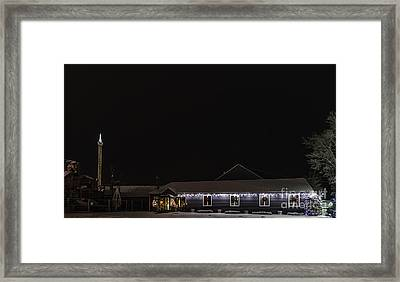 Funtown U.s.a. Decorated For Christmas Framed Print