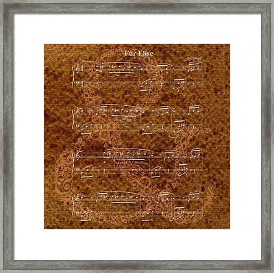 Fur Elise Music 2 Digital Painting Framed Print