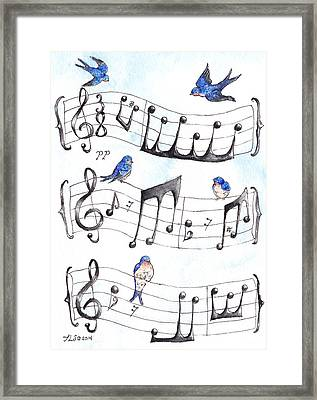 Fur Elise Song Birds Framed Print by Theresa Stinnett