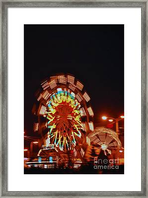 Fur Rondy Ferris Wheel In Anchorage Framed Print