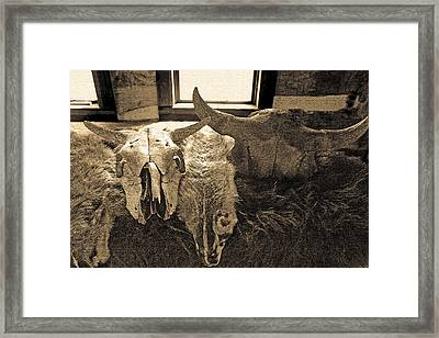 Fur Trader's Post Framed Print
