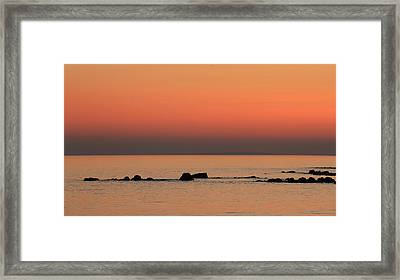 Furbo Beach Sunset Framed Print by Peter Skelton