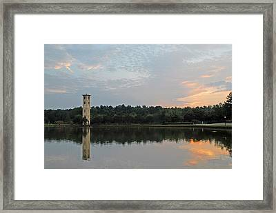 Furman University Bell Tower  Greenville Sc Framed Print