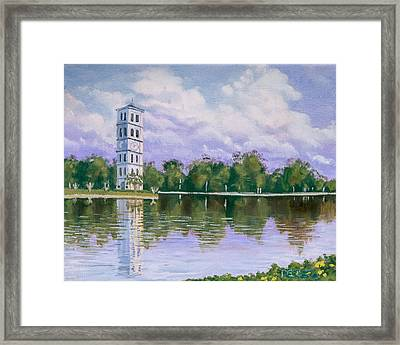 Furman University Clock Tower Framed Print