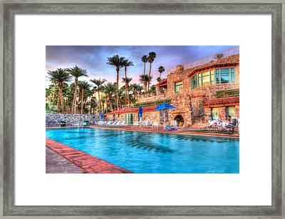 Furnace Creek Inn Sunset  Framed Print by Heidi Smith