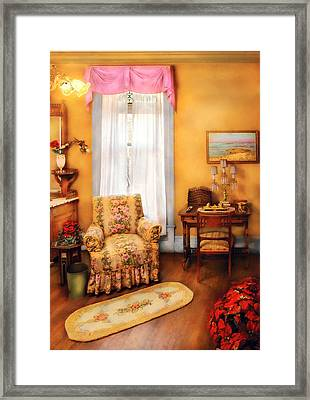 Furniture - Chair - Livingrom Retirement Framed Print by Mike Savad