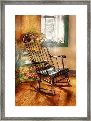 Furniture - Chair - The Rocking Chair Framed Print by Mike Savad