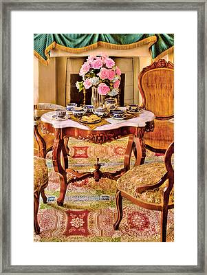 Furniture - Chair - The Tea Party Framed Print by Mike Savad