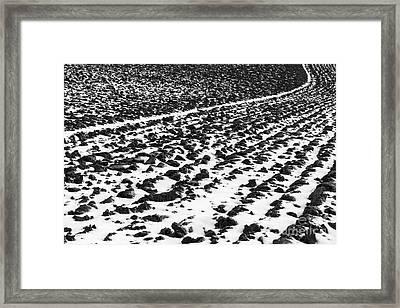 Furrowed Framed Print by John Farnan
