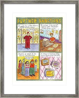 'further Sanctions' Framed Print by Roz Chast