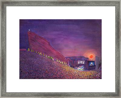 Furthur Red Rocks Equinox Framed Print by David Sockrider